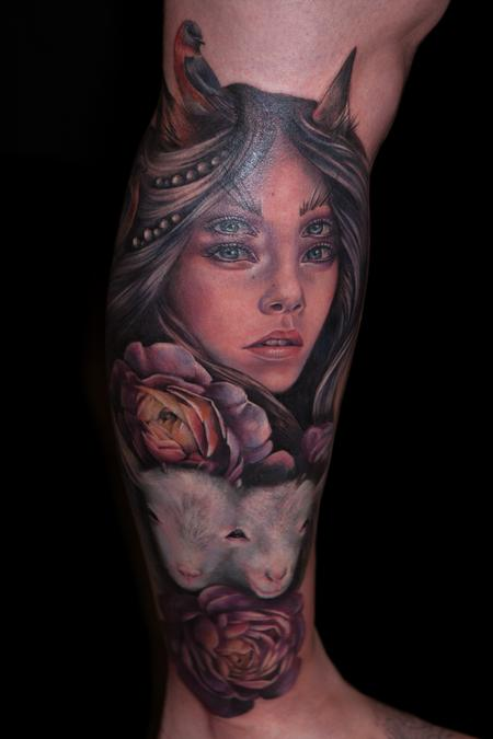 Tattoos - girl with double eyes - 103762
