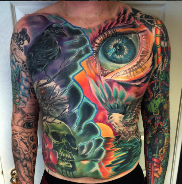 Chest & Stomach Panel By Mark Bester: TattooNOW