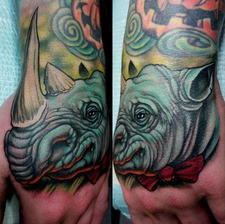 Tattoos - Rhino Tattoo - 100413