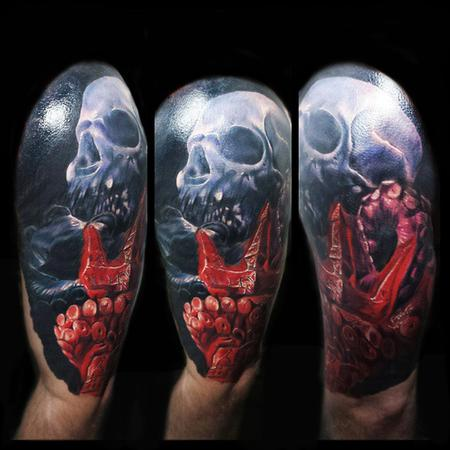 Tattoos - Octopus Skull cover up - 106643