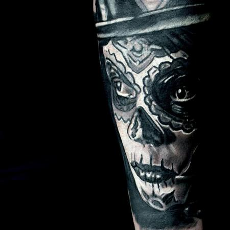 Tattoos - Day of the dead forearm  - 116581