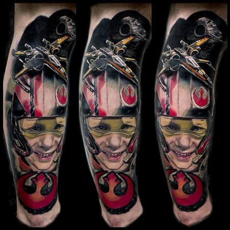 Tattoos - My clients son as a xwing pilot from the force awakens - 116580