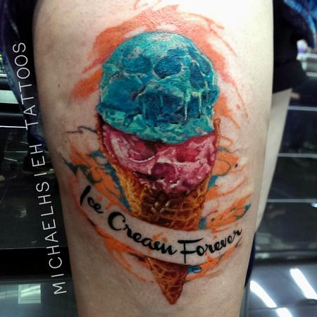 Tattoos - skull ice cream - 99154