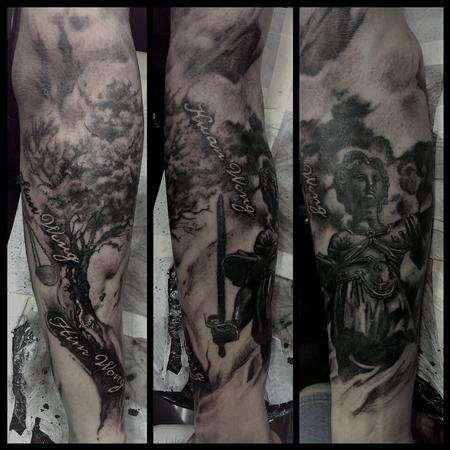 Tattoos - family tree / rework lady justice - 99169