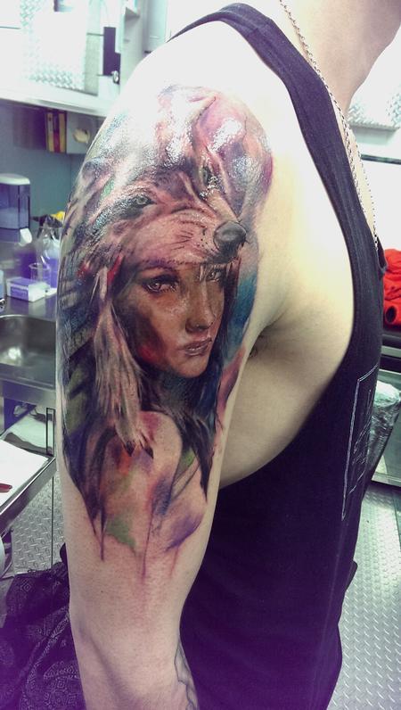 Tattoos - Girl with headdress - 104293