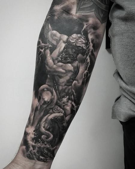 Tattoos - Poseidon vs kraken - 121946