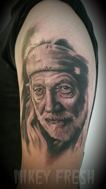 Tattoos - Willie Nelson Portrait - 109329