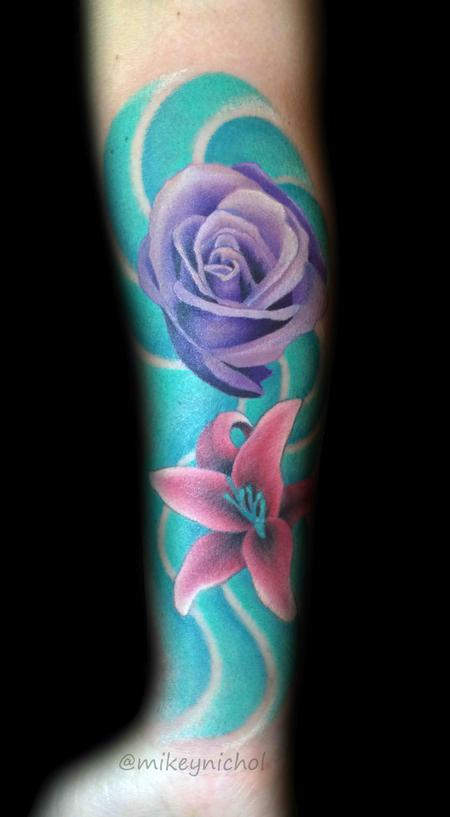 Tattoos - Rose and Lily - 108633