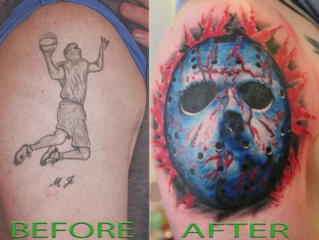 Mirek VelStotker - Color Jason Mask Tattoo