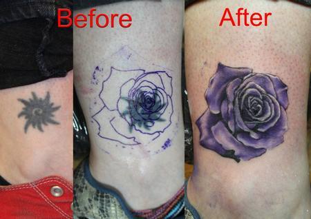 Tattoos - Color Rose Tattoo - 61641