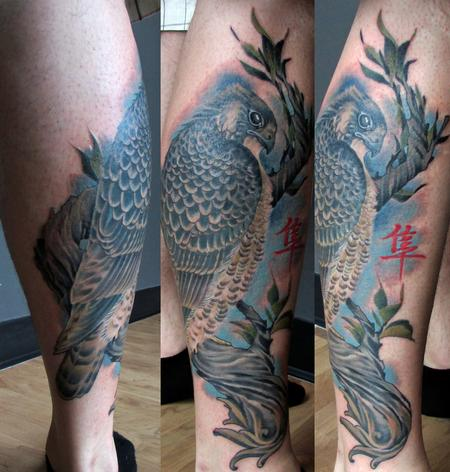 Tattoos - Hawk Side Calf - 86564