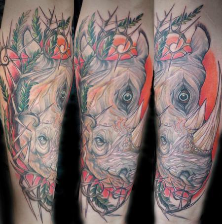 Tattoos - Rhino with Third Eye - 78144