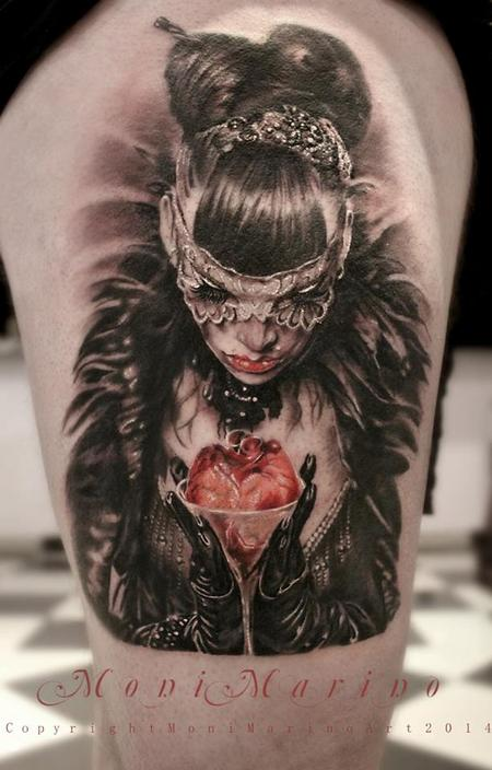 Tattoos - Masked Woman with Heart - 113705