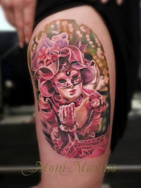 Tattoos - Venetian Mask Tattoo - 113707