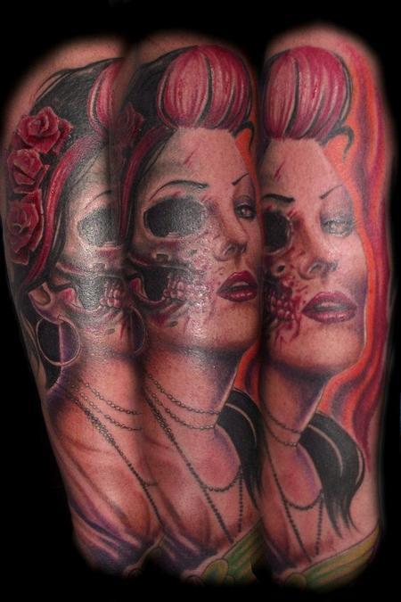 Tattoos - Color Portrait Tattoo - 61754