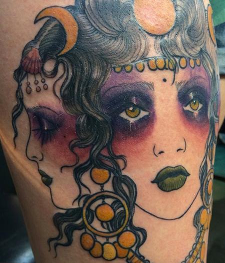 Tattoos - Hekate Moon Gypsy - 99740