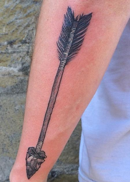 Tattoos - Wooden Arrow - 99739