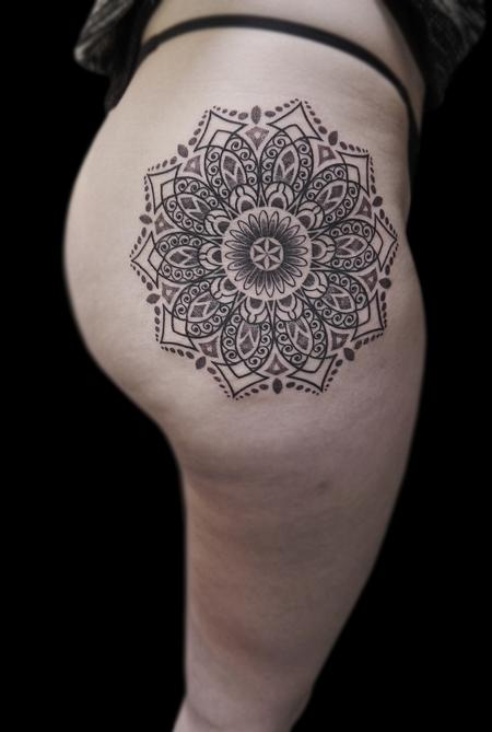 Tattoos - line work dotwork ornamental mandala - 116936