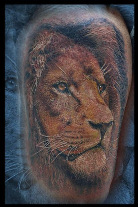 Tattoos - Lion - 111455