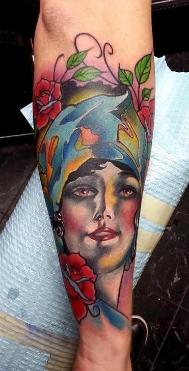 Tattoos - Floral Showgirl - 114596