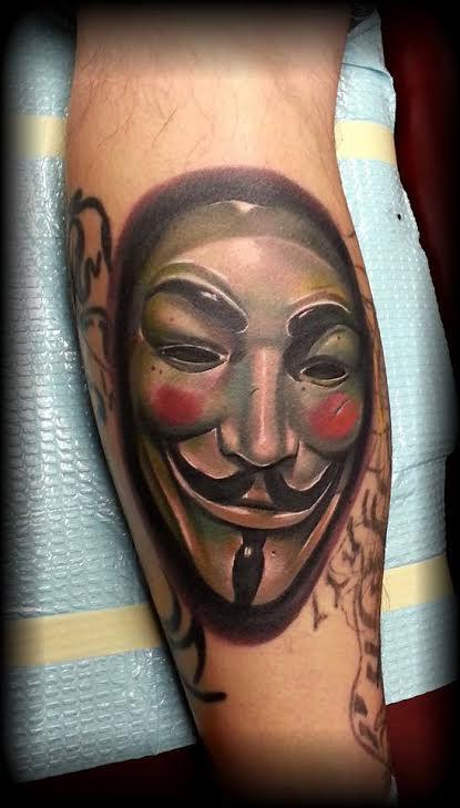 Tattoos - Guy Fawkes Mask - 114595