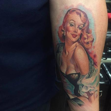 Tattoos - Color Pinup Tattoo - 113693