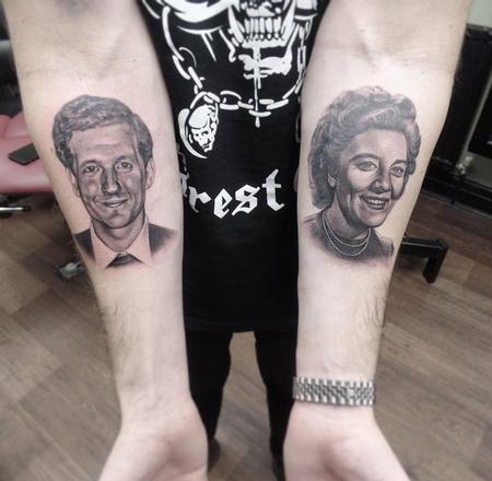 Tattoos - Grandparents Portrait tattoos - 113694