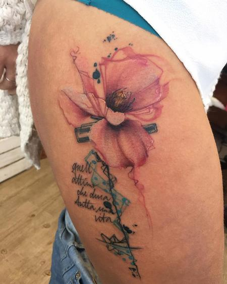 Tattoos - flower - 126328