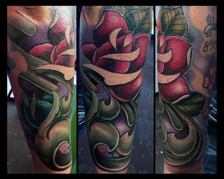 Tattoos - Rose and filigree stuff - 110106