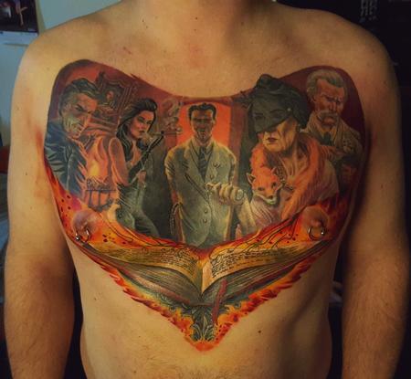 Tattoos - Thriller full chest  - 113918