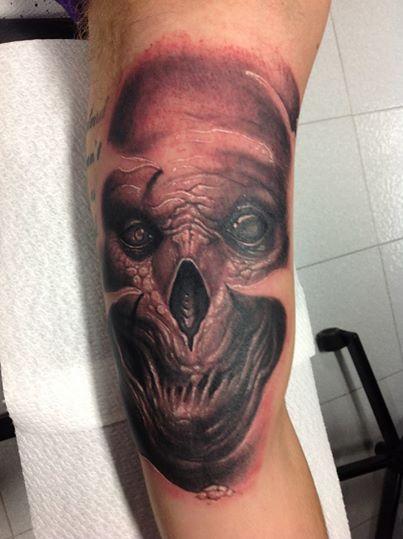 Tattoos - gross skull - 99376