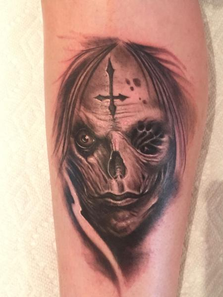 Tattoos - Evil marked face - 123096
