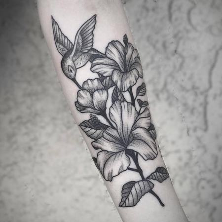 Stephen Sanchez - stipple floral