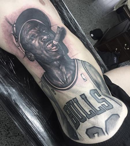 Steve Butcher - michael jordan portrait tattoo