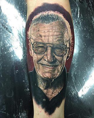 Steve Butcher - Stan Lee Tattoo