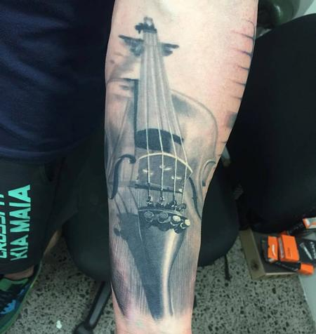 Tattoos - Violin Tattoo - 113668