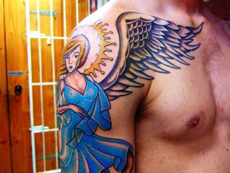 Tattoos - Color Angel Tattoo - 60552