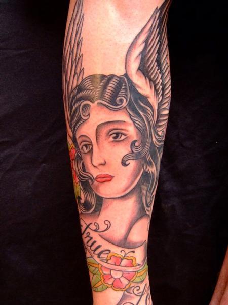 Tatu Lu - Traditional Angel Tattoo