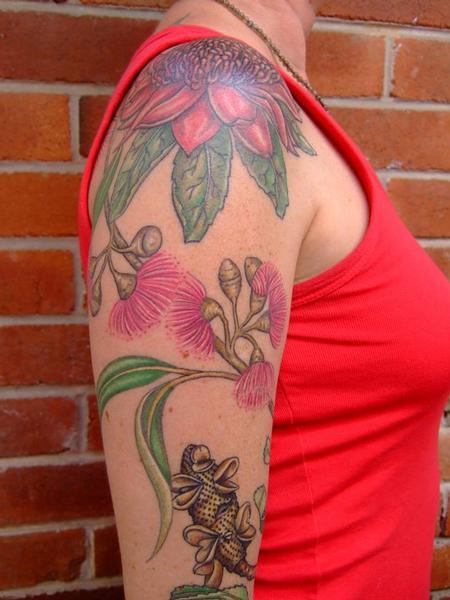 Tattoos - Custom Flower Tattoo - 60555