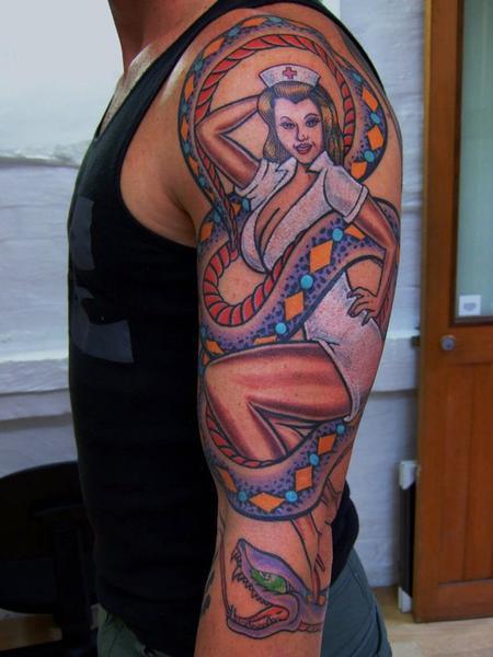 Tattoos - Pinup Tattoo - 60556