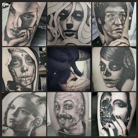 Tattoos - portrait collage - 113744
