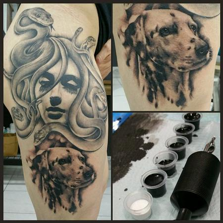 Tattoos - medusa and dalmation - 113703