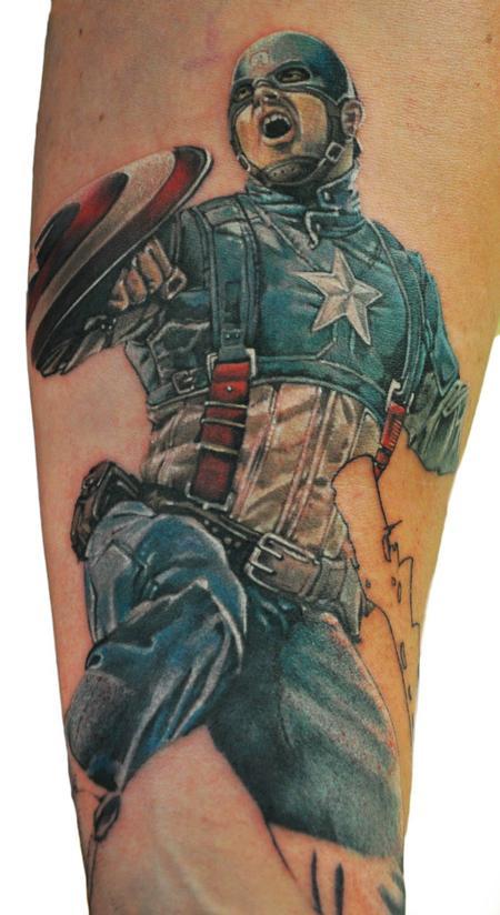 Tattoos - Captain America - 122803
