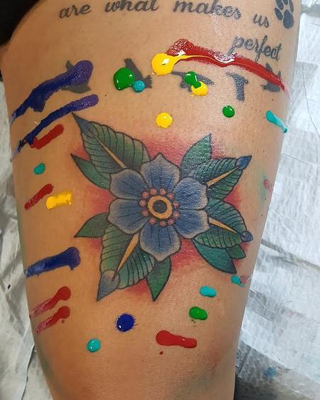 Tattoos - Traditional Flower - 123161