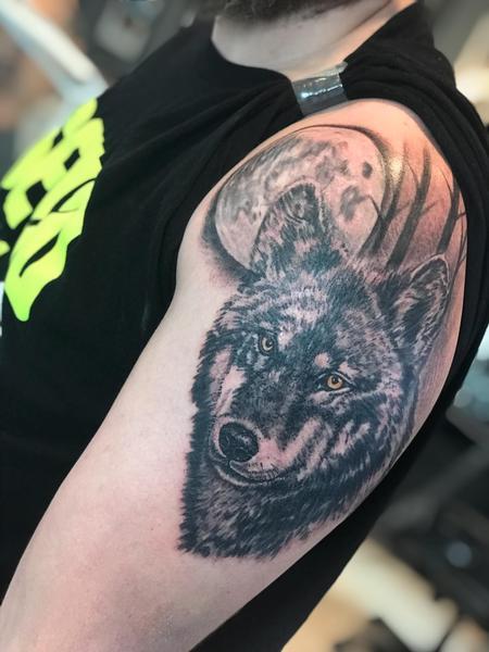 Tattoos - wolf tattoo - 132919