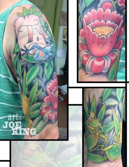Tree Frog Family Half Sleeve By Joe King Tattoonow
