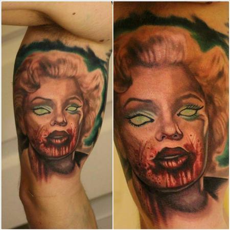 Tattoos - zombie marilyn ernesto nave - 86823