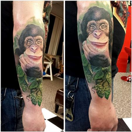 Tattoos - ape invents beer ernesto nave - 86826