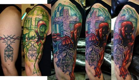 Tattoos - Dare Devil coverup - 73690