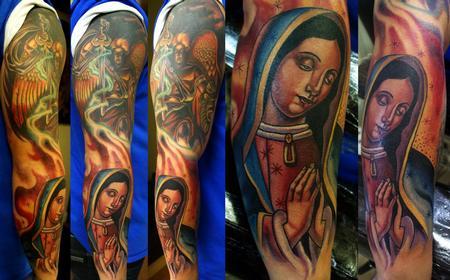Tattoos - religous sleeve - 73691